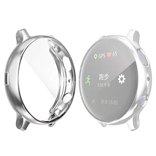 Waterdicht mode Dfch for de Samsung Galaxy Kijk Active 2 44mm Hat-prince Full Coverage galvaniseren TPU Case (Zwart)