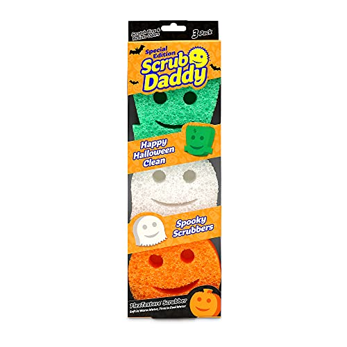 Scrub Daddy Sponge - Halloween - Non-Scratch Scrubbers for Dishes and Home - 3ct