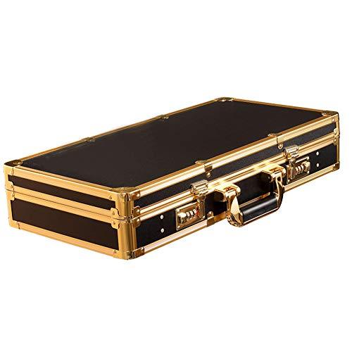 Peluquería Caja de herramientas Barbero profesional Gabinete de almacenamiento retro Estilista portátil Cajas de herramientas Gran capacidad, negro, 53X33cm
