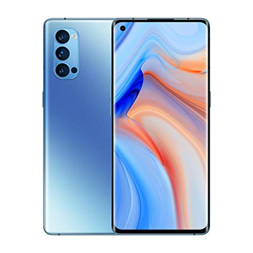 Oferta de OPPO Reno 4 5G - Smartphone 128GB, 8GB RAM, Dual SIM, Carga rápida 65W - Azul