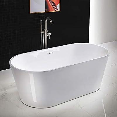 WOODBRIDGE B0013-B/N-Drain &O Bathtub, Brushed Nickel