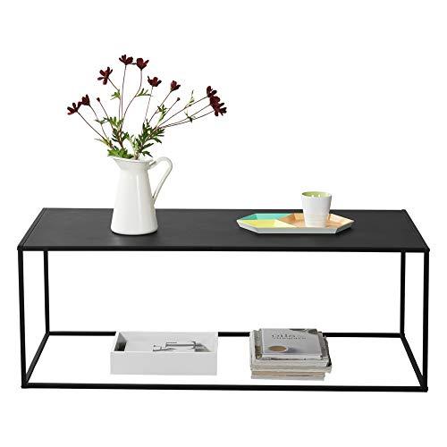 [en.casa] Konsolentisch Beistelltisch 40x110x50 cm Wohnzimmertisch Industrie-Design Metall Schwarz