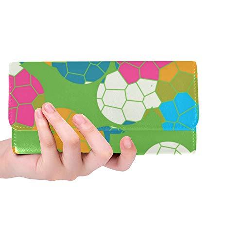 Unique Custom Mosaic Tiles Vector Mobile Wallpaper X Women Trifold Wallet Long Purse Credit Card Holder Case Handbag