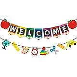Banner de Bienvenida, Primer día de Decoración de la Escuela para el Aula de la Escuela ...