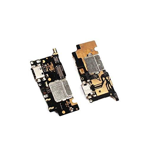 ZHOUZHONGLAN Principal cargador de carga micro USB Flex Cable puerto con módulo de micrófono para Xiaomi Mi5C Mi 5C teléfono
