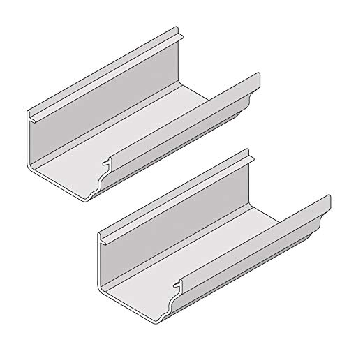 Pack of 2, 4m White Marley Classic Ogee Gutter for Ultraframe Classic Conservatory Roof Guttering