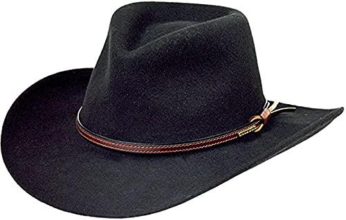 Stetson Men's Bozeman Wool Felt Crushable Cowboy Hat Black XX-Large