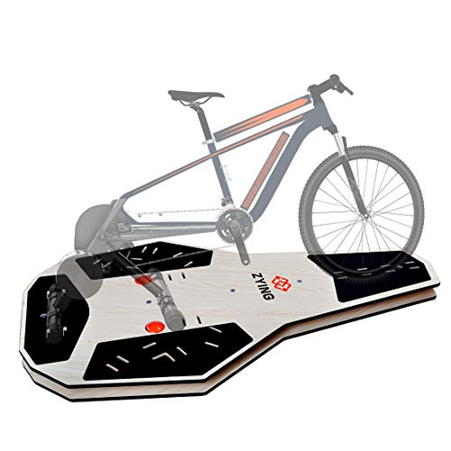 ZYING Rocker Plate for Cycling Training, Smart Bike Trainer Stand Indoor Rocker Plate Works with Zwift, Elite suito, TacX neo 2t, Wahoo kickr, Saris, and Other Trainers