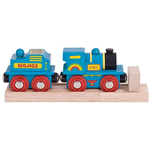 Bigjigs Rail Locomotive Bleue ABC
