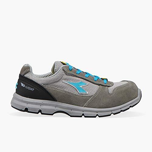 Diadora Utility 701.175305 Run Text Low S1P SRC ESD Zapato de seguridad baja, Castlerock/Scuba Blue, Tallas 48