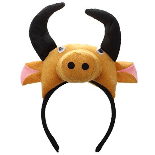 REFURBISHHOUSE Banda de Cabeza de Buey Vaca 3D Granja de Animales Mascara de...