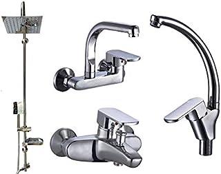 Turkish mixers set 4 pieces bathtub mixer - mixer Wash - kitchen mixer hanging - headset with bowl and soap
