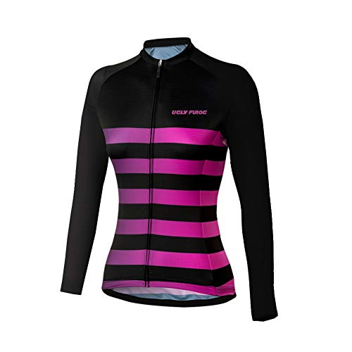 Uglyfrog 2019-2020 Damen Neue Winter Jersey Thermisches Fahrradtrikot Vlies Thermo Langarm Shirt Women Breathable Radfahren Fahrrad Lange Hülsen Fahrrad Hemd Frauen Langarm Fahrradbekleidung