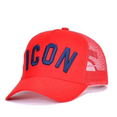 DSQICOND2 Gorra de béisbol Gorra de béisbol de Verano de algodón para Hombres Mujeres Icono Bordado Sombrero de papá Negro Hip Hop Gorra de Camionero DSQ