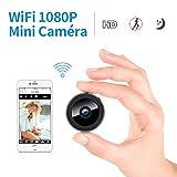 FREDI HD1080P WiFi Caméra Espion Caméscope Caché Mini Caméra sans Fil Caméra de Surveillance Intérieure Vision Nocturne/ Détection de Mouvement IP Caméra de Sécurité Portable pour iPhone Android PC