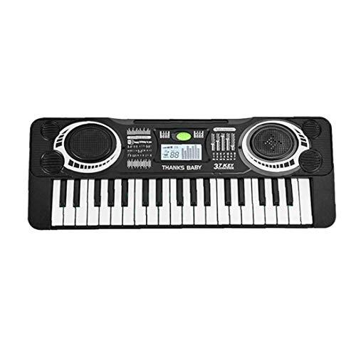 Aardich Digital Music Teclado 37 Teclas del Teclado del Instrumento Musical Blanca órgano electrónico Negro de niños de los niños
