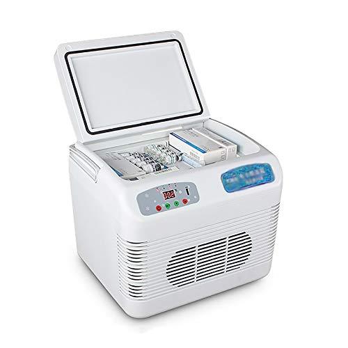 Refrigerador portátil para medicamentos Enfriador de insulina Refrigerador de 12L pequeño mini refrigerador para automóvil doméstico 2-8 ℃ Enfriador de insulina ajustable a temperatura constante
