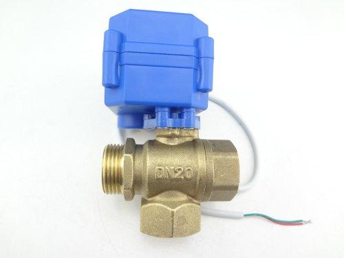 MISOL 10pcs of Motorized Ball Valve 3 way G3/4' DN20 (reduce port), electric ball valve, motorized valve, T Port/valvola a sfera motorizzata/elettrovalvola/valvola a sfera elettrica/valvola motorizzata