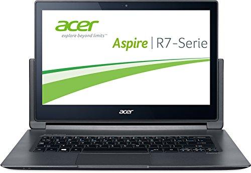 Acer Aspire R13 R7-371T-56ZR 33,8 cm (13,3 Zoll Full HD IPS) Laptop (Intel Core i5-5200U, 8GB RAM, 256GB SSD, Intel HD Graphics 5500, Multi-Touchscreen, Windows 10 Home) schwarz