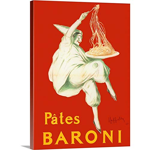"GREATBIGCANVAS Baroni - Vintage Pasta Advertisement Canvas Wall Art Print, 26""x36""x1.5"""