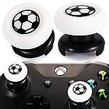 Playrealm FPS Thumbstick Grip Agarres para el Pulgar Extensor Y Impresión Caucho Silicona Apretón Cubrir 2 juegos para Xbox One (Fútbol)