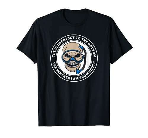 Cuanto más me acerco al fondo - Cráneo de buceador Camiseta