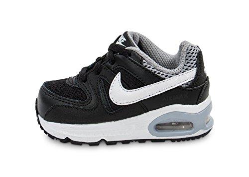 Nike Baby-Jungen Air Max Command (TD) Sneaker, Schwarz/Weiß/Grau (Schwarz/Weiß-Wolf Grau), 21 EU