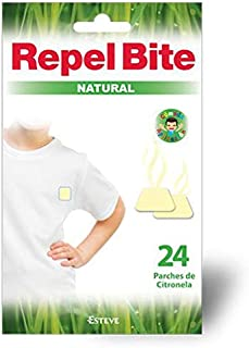 REPEL BITE NATURAL 24 parches repelentes CITRONELA. Protecci
