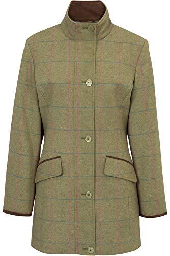 Alan Paine Damen Combrook Tweed Field Jacket Juniper