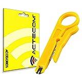actecom Cable Cutter Herramienta IDC Red Amarillo Mini alicate Pelacables UTP para Cable de Bolsillo portátil