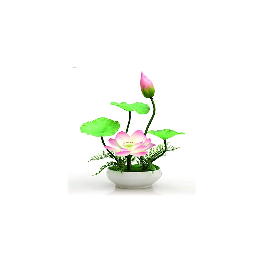XuYuanjiaShop Artificial Flowers Lotus-Shaped Artificial Flower Bonsai is Used in The Office Living Room to Place Artistic Flower Arrangements and Artificial Flowers Home Decorations