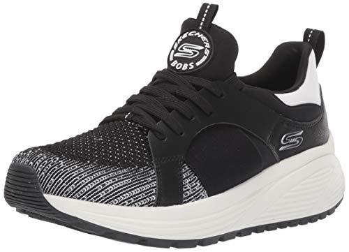 Skechers Damen Bobs Sparrow 2.0-Metro Daisy Sneaker, Schwarz (Black and White Engineered Knit/Black Gore/White Trim BKW), 39 EU