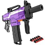 DIY Toy Gun for Nerf Guns Automatic Machine Gun, Toys for 6-10 Year Old Boys & Girls, Motorized Toy Foam Blasters with 100 pcs Darts, Outdoor Games for Kids, Teens and Family