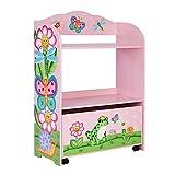 Fantasy Fields - Magic Garden Kinderspielzeug-Organizer mit rollender Kinder-Aufbewahrungsbox | Holzspielzeug Aufbewahrung |