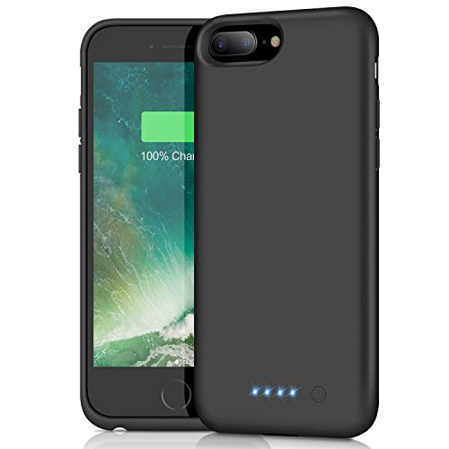 Akku Hülle für iPhone 6 Plus 6S Plus 7 Plus 8 Plus, [8500mAh] Ultradünnes Ladebatterie Zusatzakku Hülle Akku für iPhone 6 Plus 6S Plus 7 Plus 8 Plus Wiederaufladen Leistungsstarke Powerbank Akku Case