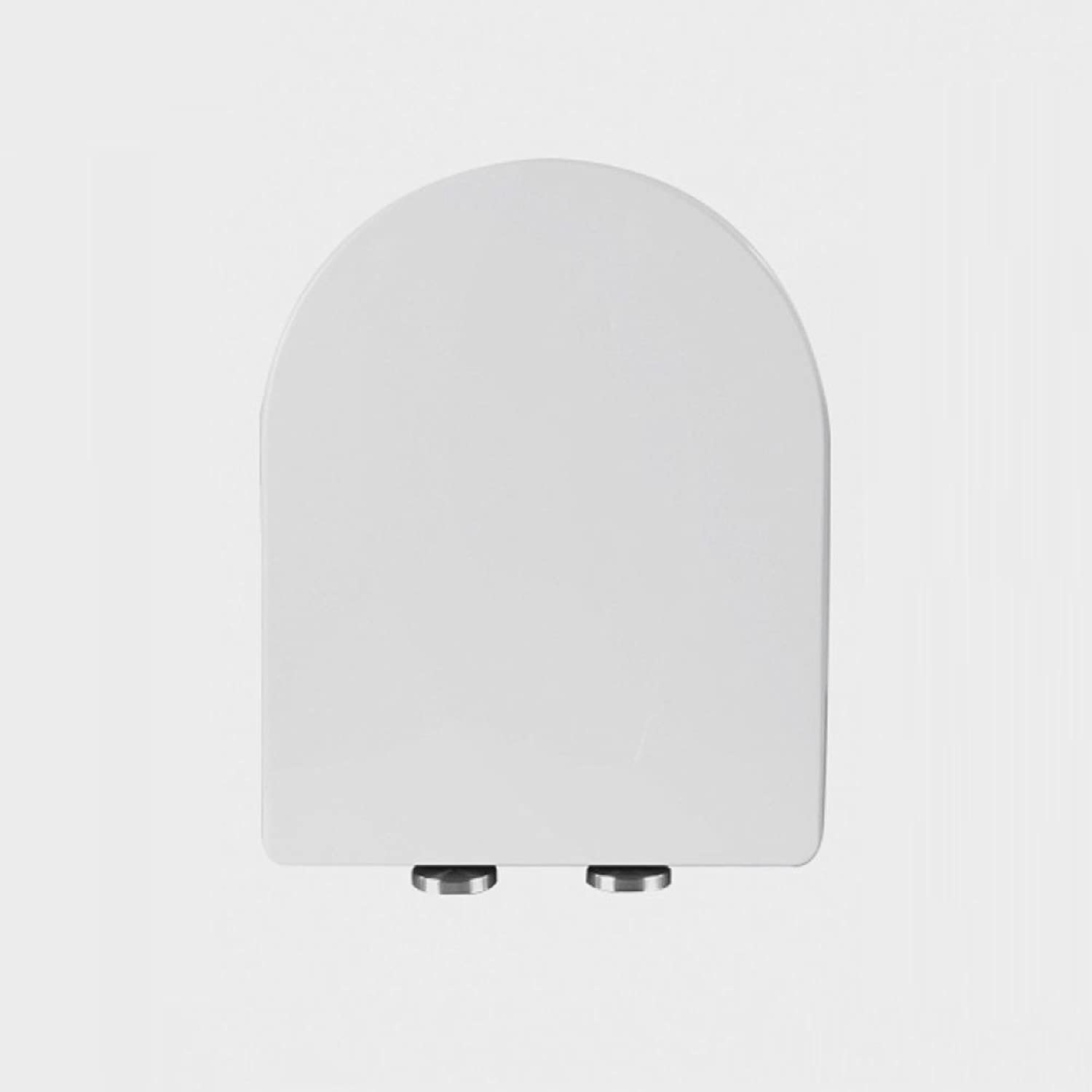 Toilet Seat Universal Recessed Easy To Install Toilet Lid Antibacterial PP Cover,White-42cm34cm