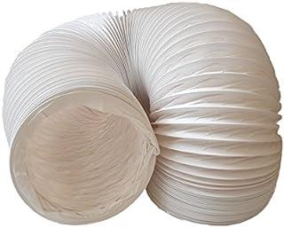 daniplus Abluftschlauch PVC flexibel Durchmesser 150 mm, 6 m z.B. für Klimaanlagen, Wäschetrockner, Abzugshaube