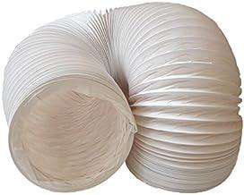 daniplus Afvoerslang PVC flexibel Ø 150 mm, 3 m bijv. voor airconditioning, wasdrogers, afzuigkap