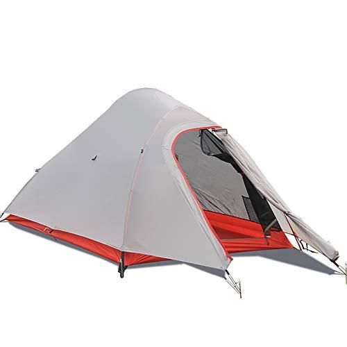RTY Camping Zelt, Wasserdichtes Outdoor-Trekkingzelt Für 2 Personen, Alpenzelt, Firstzelt, Einzelzelt, Winddicht, Regenfest, Wetterfest, 215 X 135 X 105 cm, 2,5 Kg