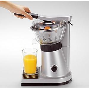 KRUPS PRESSE AGRUMES ELECTRIQUE EXPRESS 130W Jus Vitamine C Orange Citron Pamplemousse Extracteur Manuel ou Motorisé Capacité Illimitée Filtre Pulpe Métal ZX700041