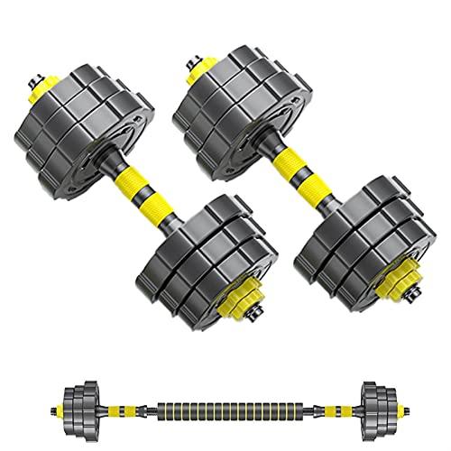 YQCH Juego de mancuernas ajustables de 2 unidades, 2 en 1, para gimnasio en casa, ejercicio y fitness, para hombres y mujeres (color: 15 kg (7,5 kg x 2))