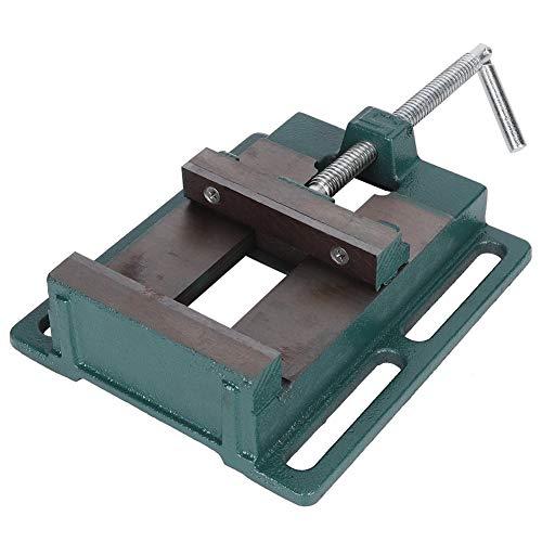 LANTRO JS - Tornillo de prensa para taladro de alta resistencia Tornillo de prensa Herramienta de carpintería simple Accesorio de carpintería Hierro fundido de mandíbula de grasa americana 125 mm