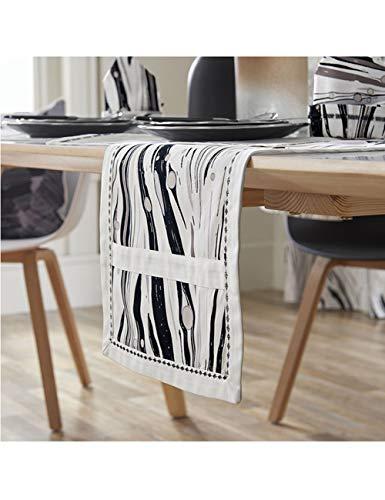 Runner-JF Katoen Thee tafelkleed Bed vlag kast moderne Eenvoudige geometrische afdrukken Dikke Handgemaakte afdrukken en verven