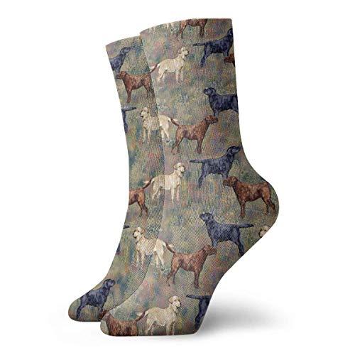 Drempad Luxury Calcetines de Deporte Labrador Retrievers Pattern Unisex Socks, All-Season Casual Comfortable Soft Ankle Socks Crew Socks