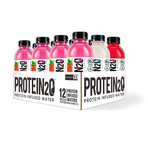 Protein2o Low Calorie Whey Protein Drink, 15g Protein Variety Pack, 16.9 Oz (Pack Of 12), 12Count