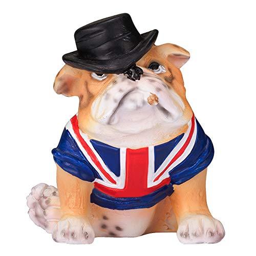 Chapman Sculptures Statue Britische Bulldogge mit Union Jack, handbemalt, 7,8 cm