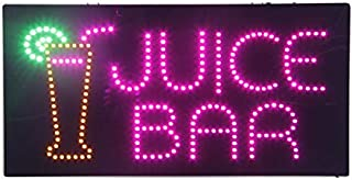 LED Juice Bar Open Light Sign Super Bright Electric Advertising Display Board for Bubble Boba Tea Smoothie Coffee Cafe Business Shop Store Window Bedroom Decor 24 x 12 inches