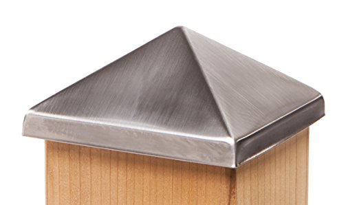 Pyramid Post Point Cap 4x4 (3-1/2') - Stainless Steel