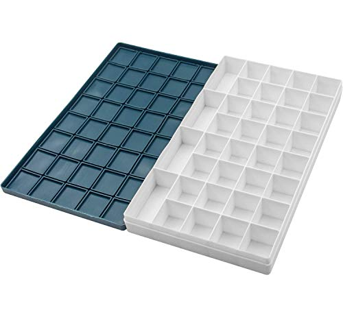 Riyanon Paint Palette 36 Wells Artist Plastic Paint Holder Tray with Soft Lid 11.1x6.2x1.57 Inch for Watercolor, Acrylic,Gouache and Oil Paint