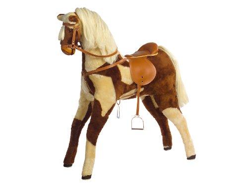 Kidsmax großes Pferd Plüschpferd Bella mit Sattel und Zaum